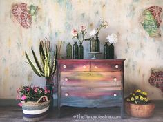Moody Sunset Dresser by TheTurquoiseIris on Etsy Diy Furniture Plans, My Furniture, Colorful Furniture, Handmade Furniture, Unique Furniture, Repurposed Furniture, Furniture Projects, Rustic Furniture, Furniture Makeover