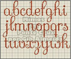 Retoucher et corriger studios: Monograms Cross Stitch Alphabet Patterns, Embroidery Alphabet, Cross Stitch Letters, Cross Stitch Borders, Cross Stitch Charts, Cross Stitch Designs, Cross Stitching, Cross Stitch Embroidery, Stitch Patterns