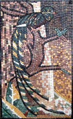 Mosaic Designs - Green Bird