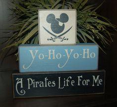 Mickey Mouse Yo Ho Yo Ho Pirate Pirate by SimpleBlockSayings, $26.95