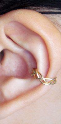 Ear Cuff Gold Ear Wrap Braided Cartilage by MaggieMadeWithLove, $16.00