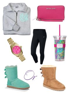 """UGG Season! Outfit #1"" by preppy-southern-girl88 ❤ liked on Polyvore featuring NIKE, UGG Australia, Michael Kors, MICHAEL Michael Kors, Lilly Pulitzer, women's clothing, women, female, woman and misses"