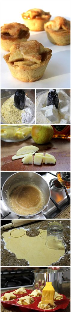 brandy apple mini pies with cornmeal crust recipe more apples apples ...