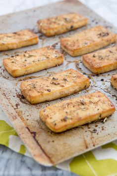 Recipe | Baked Italian Herb Tofu + How to Press Tofu Like a Champ