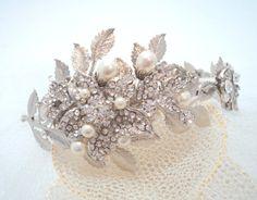 Bridal headband wedding headband wedding hair by treasures570, $165.00