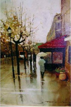 """Peter Fennell - """"Paris in the Rain""""   ...........click here to find out more     http://googydog.com"""