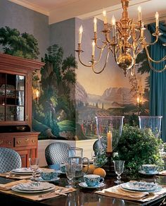 Zuber Luv This Room Design Zuber Wallpaper Scenic Wallpaper Painted Wallpaper