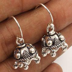Little Designer Jhumki Earrings PLAIN No Stone 925 Sterling Silver Manufacturer #Unbranded #DropDangle