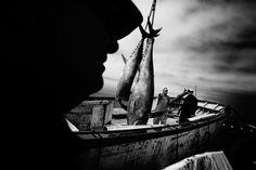 El fotógrafo gaditano Antonio González Caro presenta, desde el 17 de febrero en la Kursala, su proyecto 'GARVM', un trabajo sobre la pesca del atún mediante la almadraba, técnica de pesca ancestral que sobrevive hoy en día en las costas del litoral gaditano.