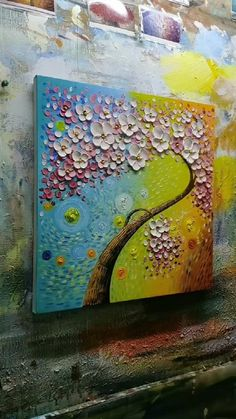 Texture Painting On Canvas, Abstract Painting Techniques, Canvas Painting Tutorials, 3d Art Painting, Canvas Painting Landscape, Knife Painting, Painting Flowers, Canvas Art Projects, Diy Canvas Art