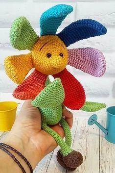 Mesmerizing Crochet an Amigurumi Rabbit Ideas. Lovely Crochet an Amigurumi Rabbit Ideas. Amigurumi Free, Crochet Amigurumi, Amigurumi Doll, Crochet Dolls, Cute Crochet, Crochet Toys Patterns, Amigurumi Patterns, Doll Patterns, Crochet Sunflower
