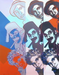 b860d6601d Marx Brothers by Warhol l is one of the 10 images from the Jews of the  century Portfolio. Andy Warhol became fascinated with these