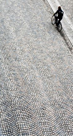 beautifully paved Handmade tiles can be colour coordianated and customized re. shape, texture, pattern, etc. by ceramic design studios