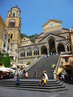 Steps to cathedral in Positano. www.SimpleTravelDeals.com