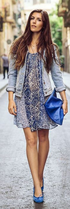 Simple Et Chic Blue On Blue On Blue Cute Outfit