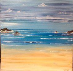 My Cornwall beach scene Sept 15