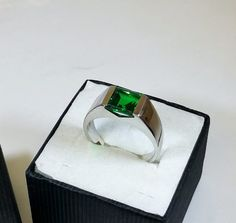 202 mm Ring Silber 925 Kristall grün edel SR118 von Schmuckbaron