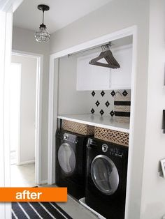 Before & After: Laundry Nook Refresh — Emerson Grey Designs   Apartment Therapy