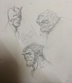 Daredevil, Thing,  Logan