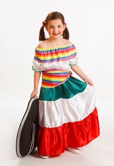 DisfracesMimo, disfraz de mejicana para niña varias tallas. Tu hija lo pasará en grande bailando y cantando al compás de rancheras mejicanas en Fiestas Temáticas.Este disfraz es ideal para tus fiestas temáticas de disfraces del mundo,paises y regionales para niñas infantiles.