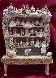 huge collection of miniature dolls for the dollhouse nursery