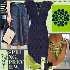 Love the blue and lime green