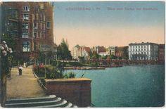 Königsberg Blick von Garten der Stadthalle 1932