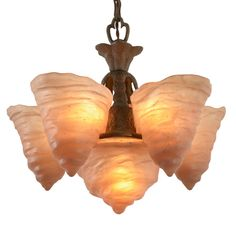 Ultra-Rare Catalonian Chandelier by Consolidated Glass Co C1927 | From a unique collection of antique and modern chandeliers and pendants  at https://www.1stdibs.com/furniture/lighting/chandeliers-pendant-lights/