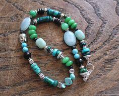 Mix of natural stones necklace. Collar de piedras by eendar, €12.60