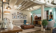 basement walls - Kristen Bell Brought Her Sister to Tears With an Epic Basement Makeover Basement Paint Colors, Basement Painting, Basement Walls, Basement Bedrooms, Basement Flooring, Basement Ideas, Basement Designs, Basement Gym, Basement Kitchen