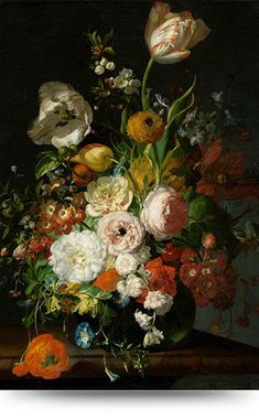 Still Life with Flowers in a Glass Vase by Rachel Ruysch on Curiator, the world's biggest collaborative art collection. List Of Paintings, Old Paintings, Original Paintings, Flower Of Life, Flower Art, Dutch Still Life, Dutch Golden Age, Dutch Painters, Floral Prints