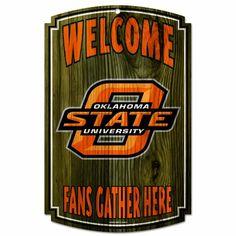 NCAA Oklahoma State Cowboys Wood Sign