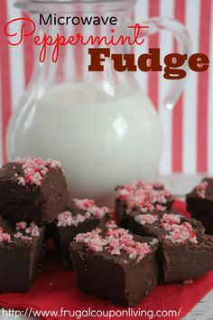 Microwave Peppermint Fudge Recipe – Easy, Delicious Chocolate Dessert on Frugal Coupon Living #recipe #simple #easy #christmas http://www.frugalcouponliving.com/2013/12/10/microwave-peppermint-fudge-recipe/