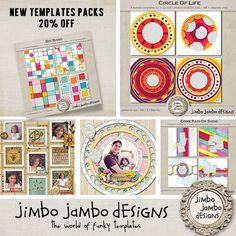 NEW   3 new templates packs from Jimbo Jambo Designs - Forum :: Oscraps.com