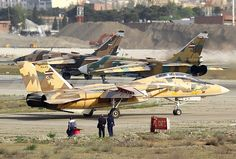 An Iranian Air Force Grumman F-14AM Tomcat.