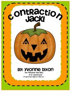 {freebie} I found this freebie of 18 pages to help teach contractions...cute!