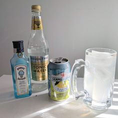 "While in Finland, I discovered the ubiquitious ready-to-drink Finish lonkero or ""Long Drink."" Widely available in Finnish liquor stores the Finish Long Tonic Water, Gin And Tonic, Grapefruit Soda, Long Drink, London Dry Gin, Liquor Store, Simple Syrup, Yummy Drinks, Alcoholic Drinks"