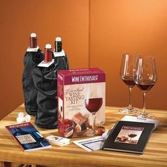 Essential Wine Tasting Kit by Wine Enthusiast. $37.99. 902 12 95 Features: -Material: Stainless steel. Includes: -Kit includes 2 tasting checklist notepads, 6 bottle bags, 6 bottle stoppers, 24 bottle tags, a blank wine journal, 2 wine label removers and a coupon for two free issues.