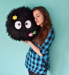 Soot Sprite Pillow | 47 Insanely Adorable Studio Ghibli Items You Need Immediately || I WANT THIS