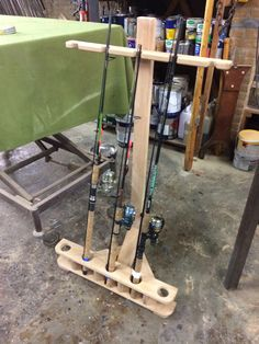 Online shopping for Rod & Reel Combos - Fishing from a great selection at Sports & Outdoors Store. Bank Fishing Rod Holders, Fishing Rod Stand, Fishing Pole Holder, Fishing Rod Storage, Pole Holders, Fishing Rods, Fishing Stuff, Wood Projects, Woodworking Projects