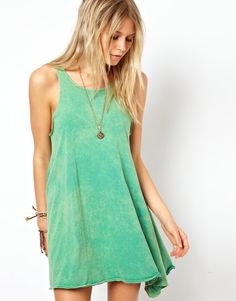 ASOS Swing Dress in Acid Wash