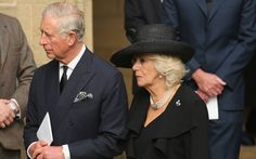 camillasgirl: The Prince of Wales and The Duchess of Cornwall attended the funeral of the Dowager Duchess of Devonshire, nee Deborah Mitford, October 2, 2014. Prince Charles and the Dowager Duchess were longtime friends.