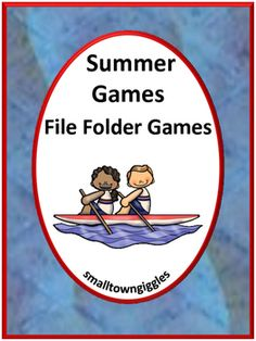 Summer Olympics File Folder Games Math Literacy Center Activities packet makes 6 printable file folder games for your PK-K or special education students. With these Summer Olympics File Folder Games students will practice visual discrimination, color recognition, match pictures, match shapes, letter matching, fine motor skills, sort by size and complete patterns.