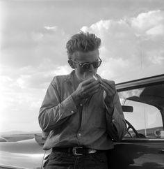 James Dean on the set of George Stevens' Giant, 1955. Photo by Richard C. Miller