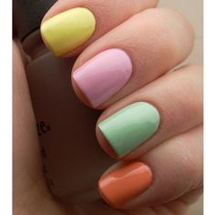 Pastel manicure for Spring