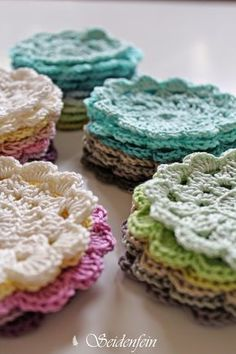 seidenfeins Blog vom schönen Landleben: frühlingsbunte Blüten - Grannys ! * DIY * spring-coloured blossom - Grannys step by step