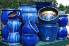 LOVE cobalt blue pots !