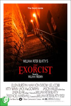 Horror Movie Posters, Movie Poster Art, Horror Movies, The Exorcist 1973, The Devil Inside, Jason Miller, Linda Blair, Cool Posters, I Movie