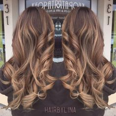 Light brown balayage on milk chocolate base