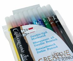 Set van 10 Callicreative Duotip markers - Klassieke schrijfwaren en kalligrafie